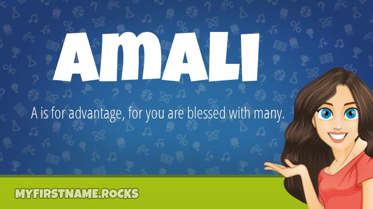 My First Name Amali Rocks!