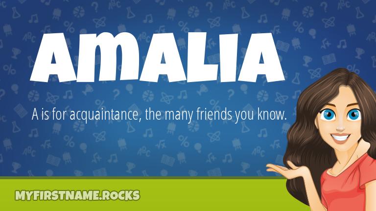 My First Name Amalia Rocks!
