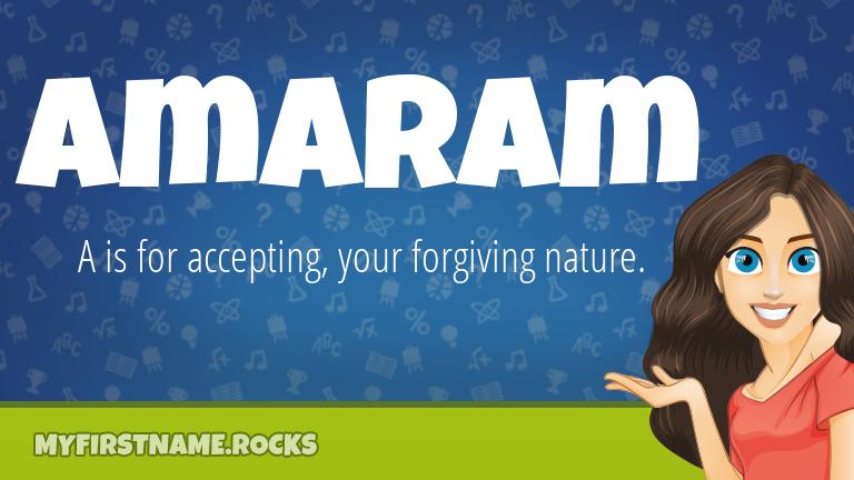 My First Name Amaram Rocks!