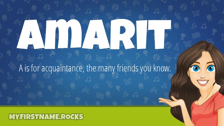 My First Name Amarit Rocks!