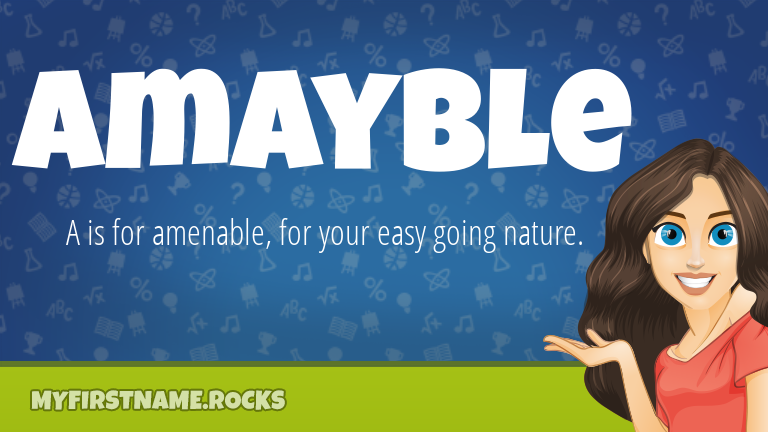 My First Name Amayble Rocks!