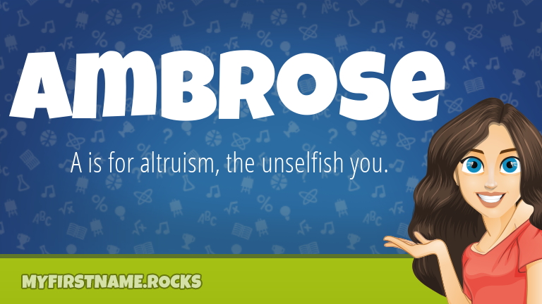 My First Name Ambrose Rocks!