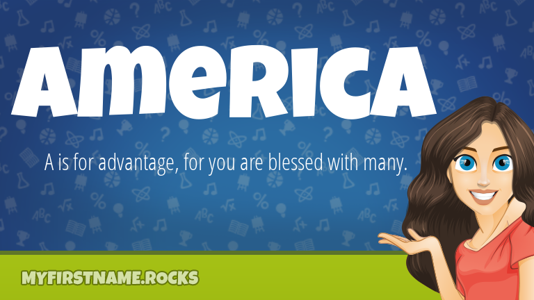 My First Name America Rocks!