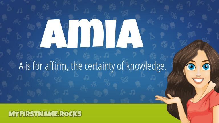 My First Name Amia Rocks!