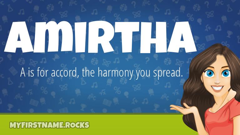My First Name Amirtha Rocks!
