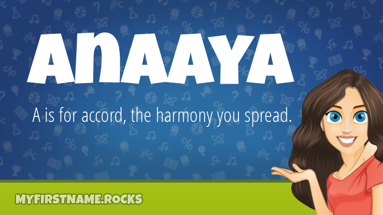 My First Name Anaaya Rocks!