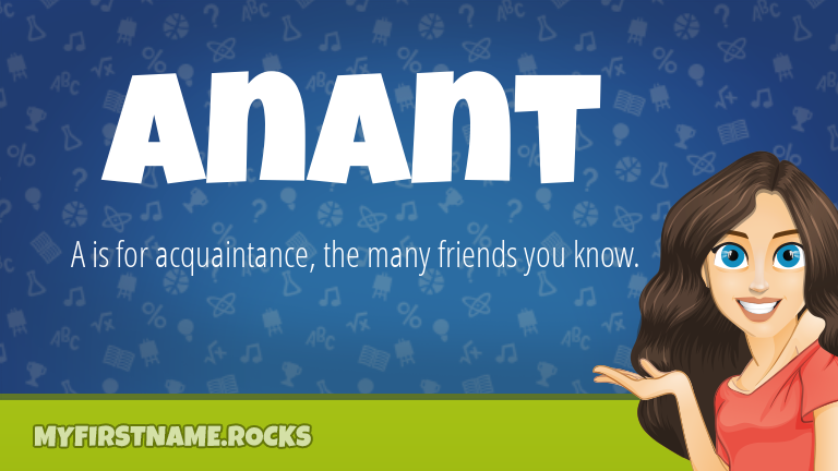 My First Name Anant Rocks!