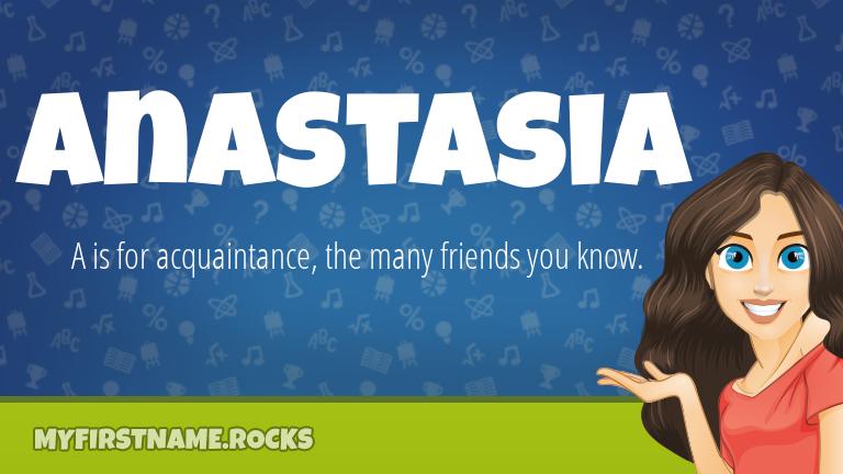 My First Name Anastasia Rocks!