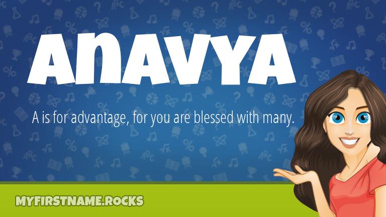 My First Name Anavya Rocks!