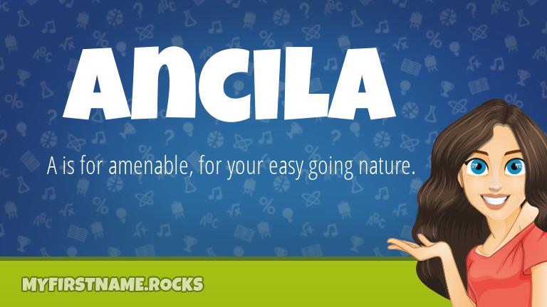 My First Name Ancila Rocks!