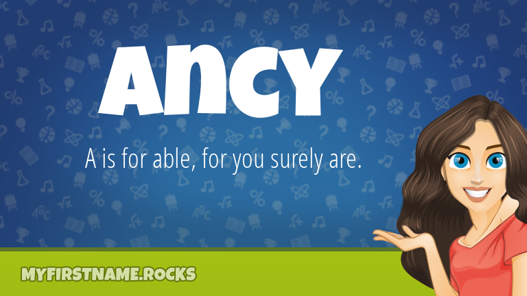 My First Name Ancy Rocks!