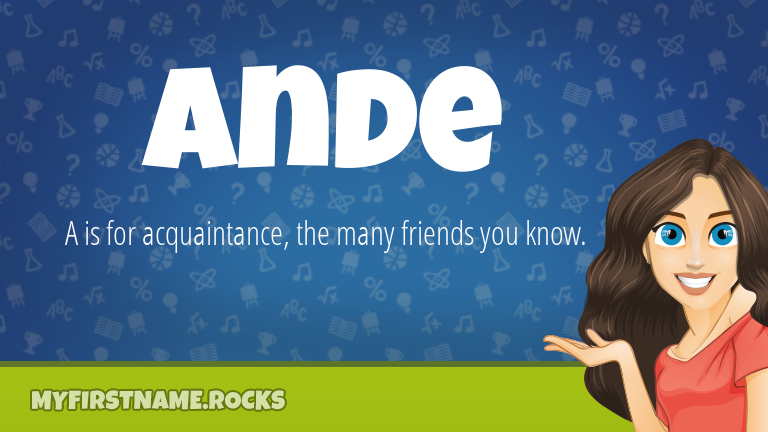 My First Name Ande Rocks!