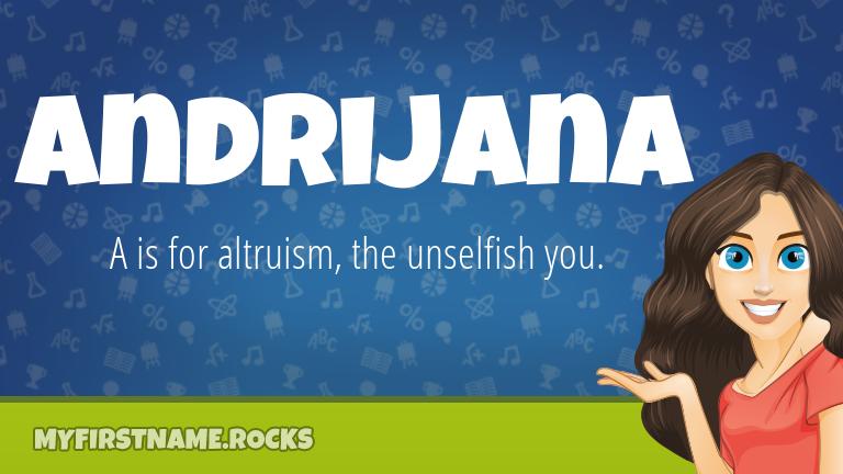 My First Name Andrijana Rocks!