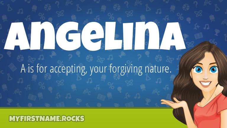 My First Name Angelina Rocks!