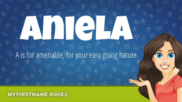 My First Name Aniela Rocks!