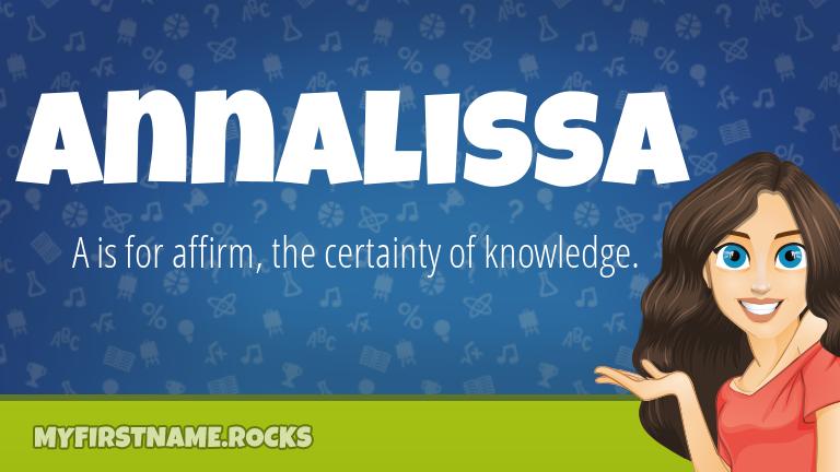 My First Name Annalissa Rocks!