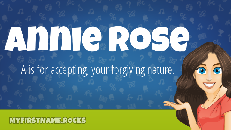 My First Name Annie Rose Rocks!