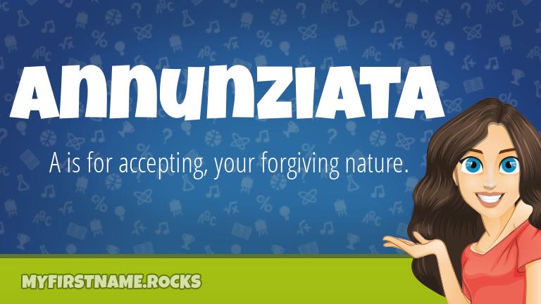 My First Name Annunziata Rocks!