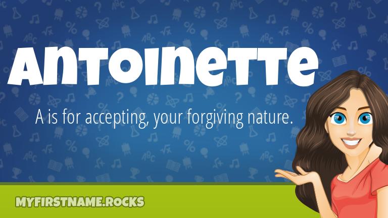 My First Name Antoinette Rocks!