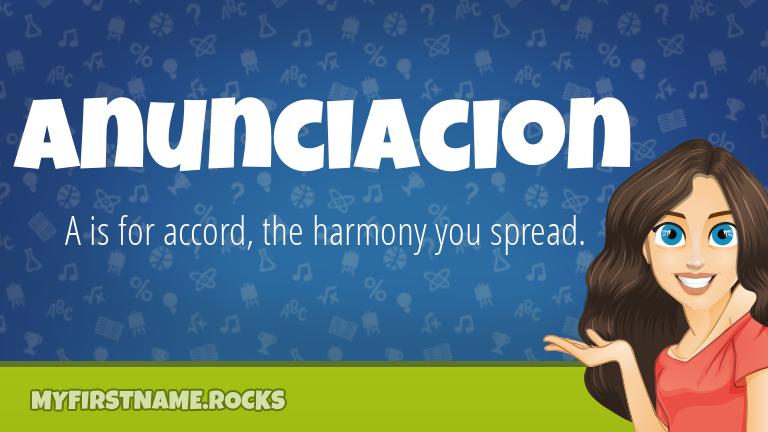 My First Name Anunciacion Rocks!