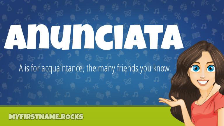 My First Name Anunciata Rocks!