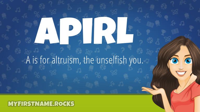 My First Name Apirl Rocks!