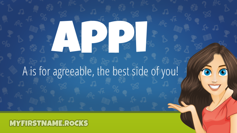 My First Name Appi Rocks!