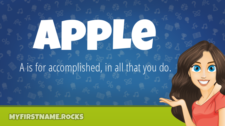 My First Name Apple Rocks!