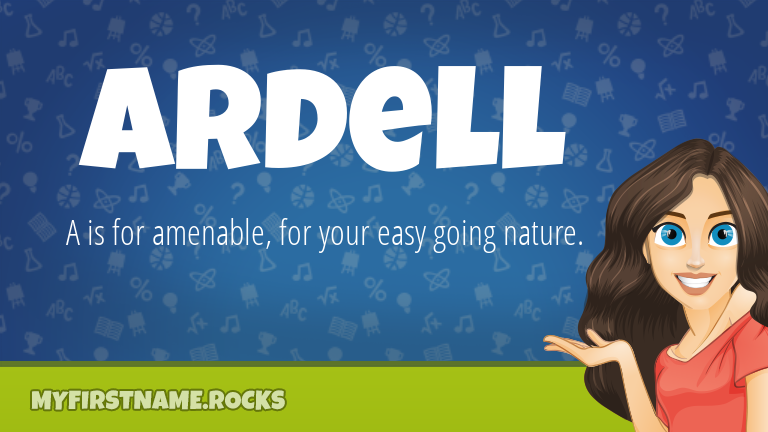 My First Name Ardell Rocks!
