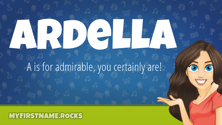 My First Name Ardella Rocks!