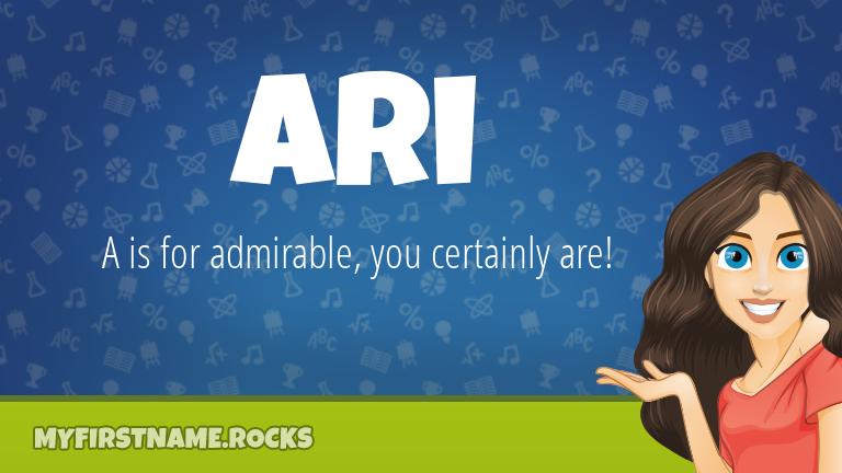 My First Name Ari Rocks!
