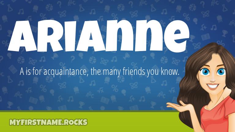 My First Name Arianne Rocks!