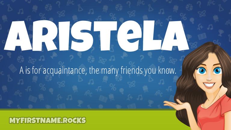 My First Name Aristela Rocks!