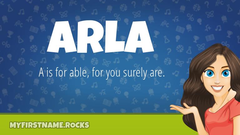 My First Name Arla Rocks!