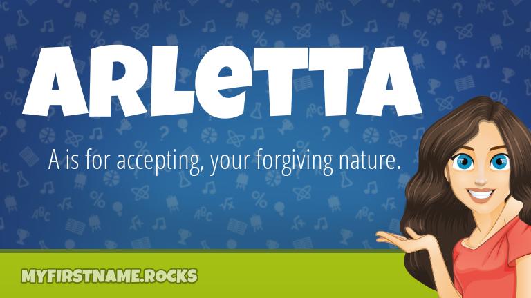 My First Name Arletta Rocks!