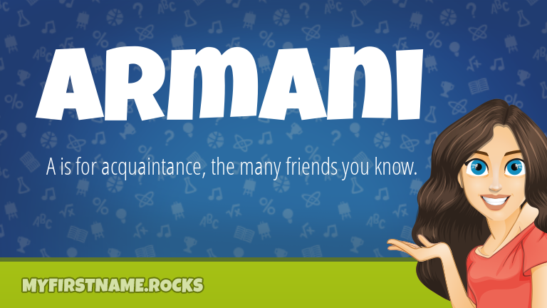My First Name Armani Rocks!