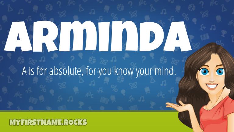 My First Name Arminda Rocks!