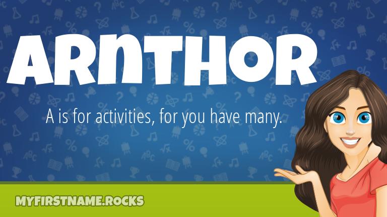 My First Name Arnthor Rocks!