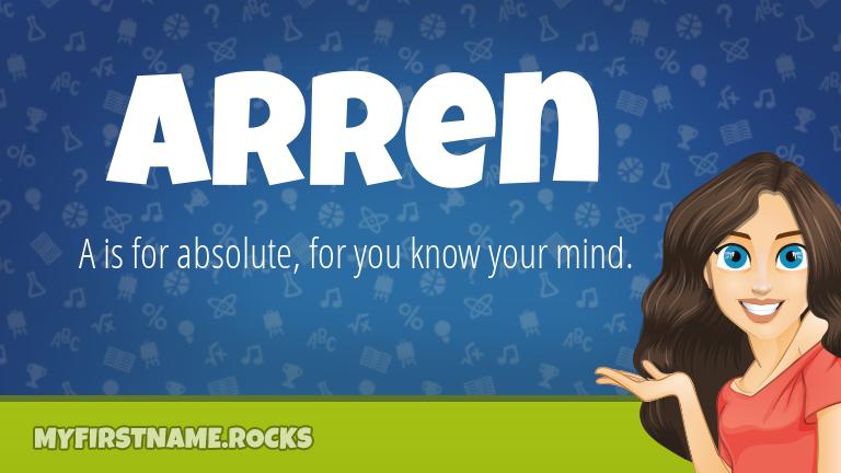 My First Name Arren Rocks!