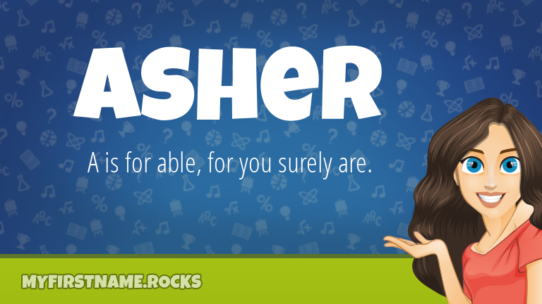 My First Name Asher Rocks!