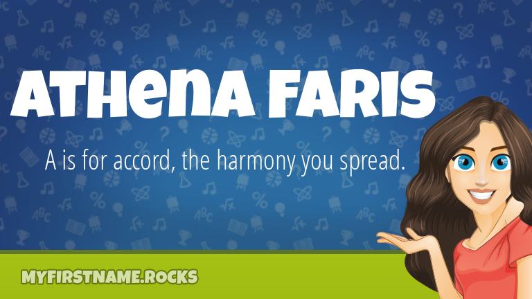 My First Name Athena Faris Rocks!
