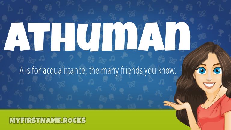 My First Name Athuman Rocks!