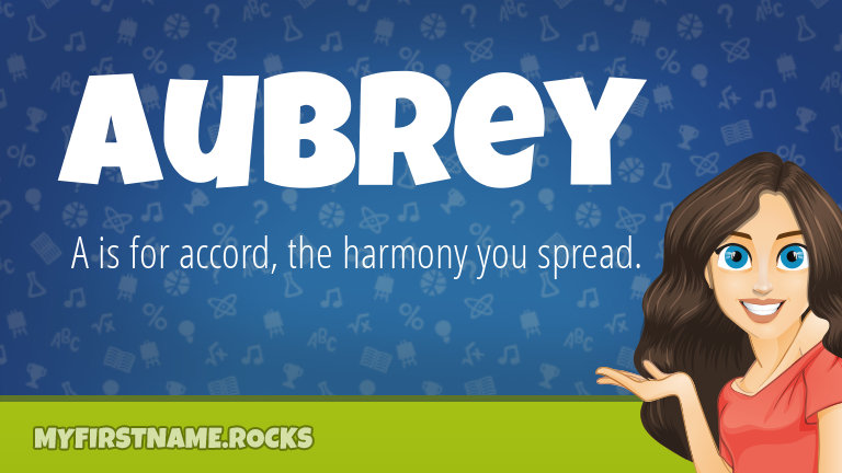 My First Name Aubrey Rocks!