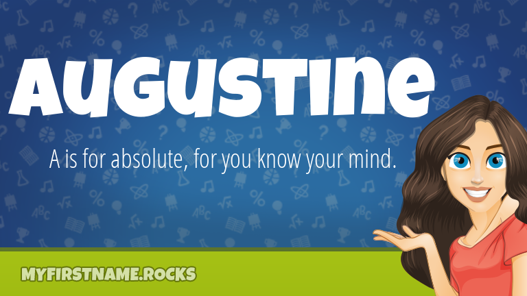 My First Name Augustine Rocks!