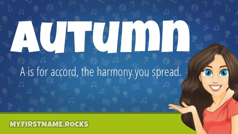 My First Name Autumn Rocks!