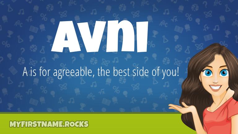 My First Name Avni Rocks!