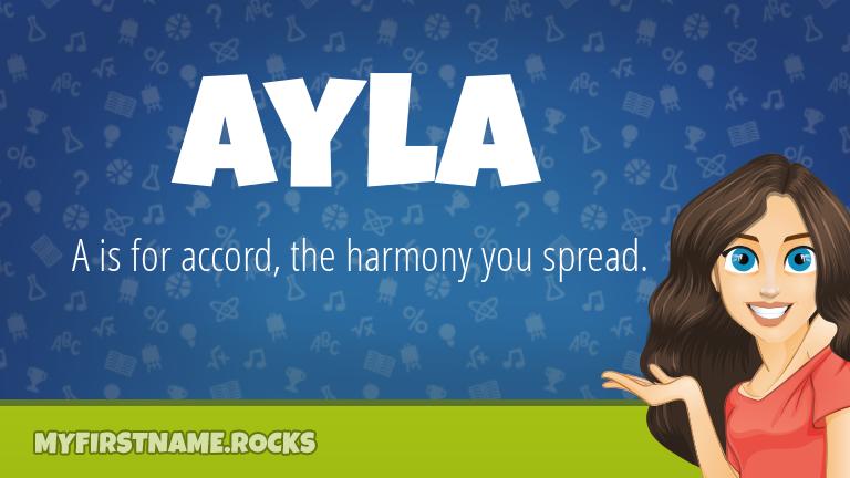 My First Name Ayla Rocks!