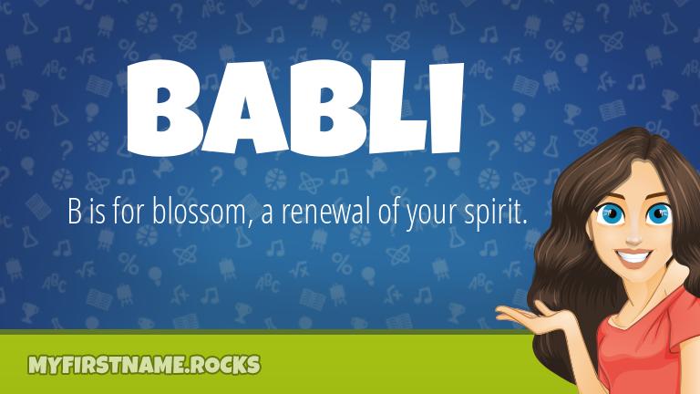 My First Name Babli Rocks!