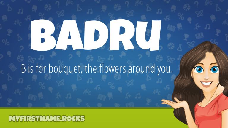 My First Name Badru Rocks!