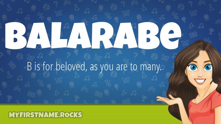 My First Name Balarabe Rocks!